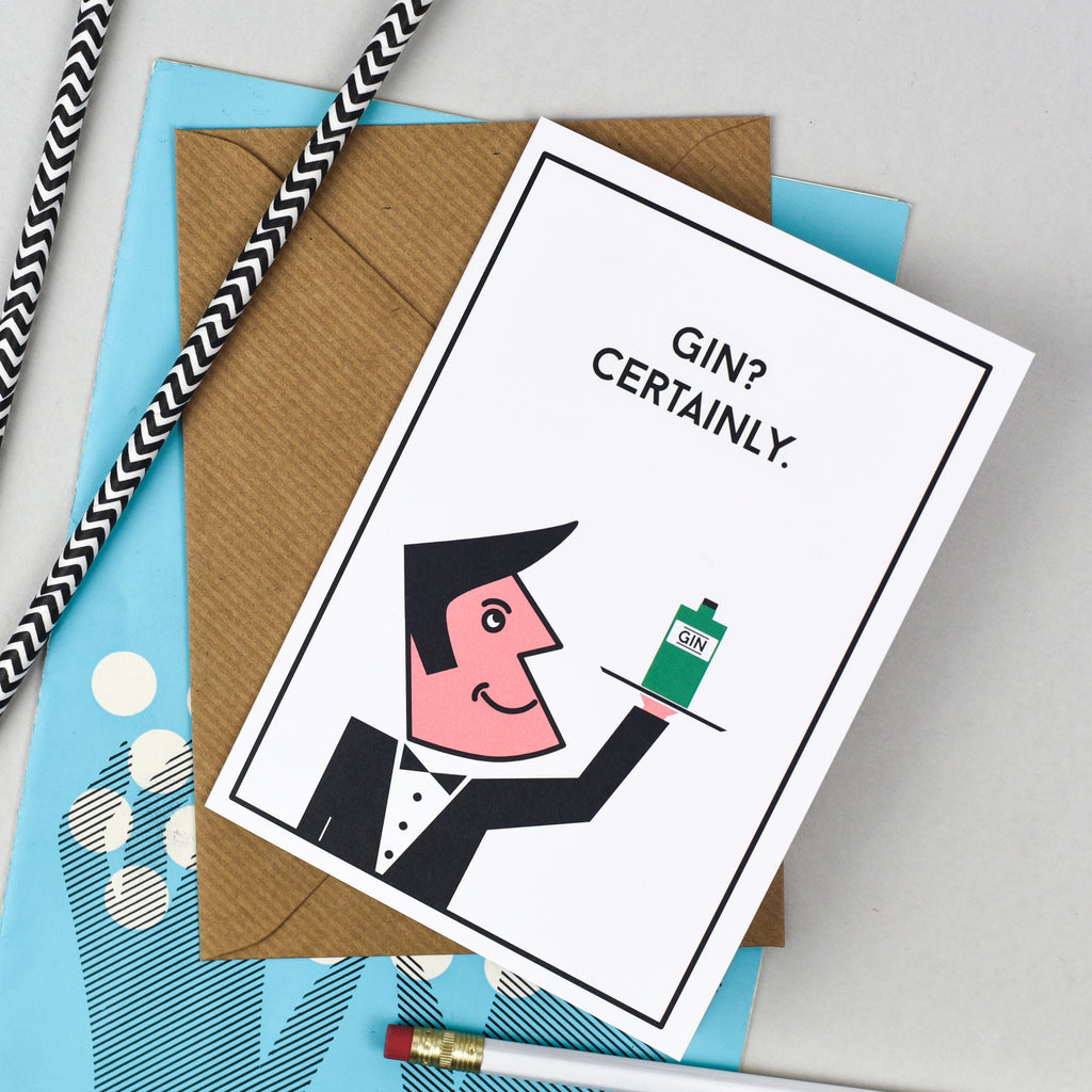 Gin? Certainly. Card
