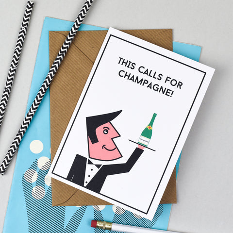 Champagne Celebration Card