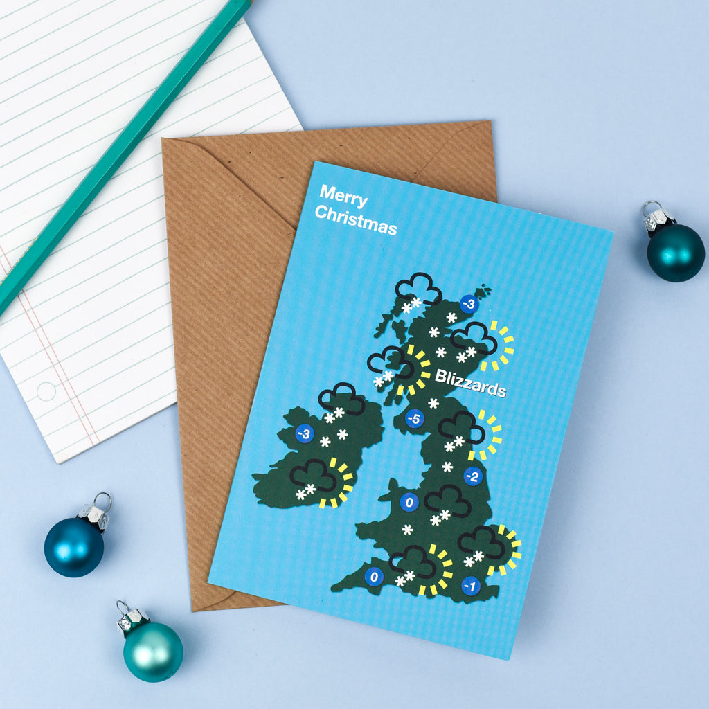UK Weather Forecast Christmas Card
