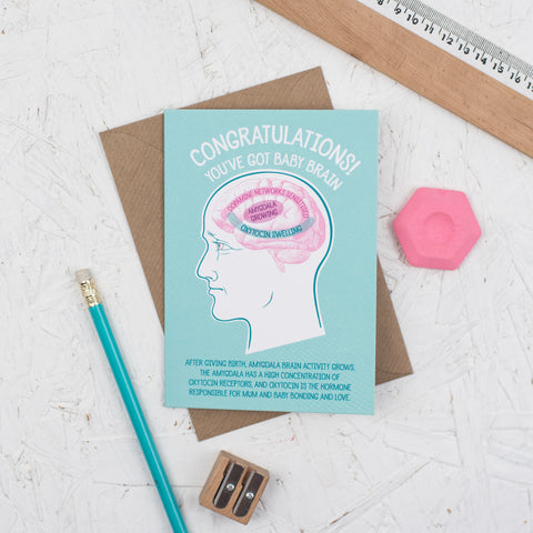 Congratulations You've Got Baby Brain Card