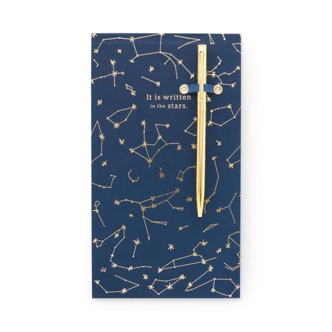 Chunky Notepad With Pen - Constellations