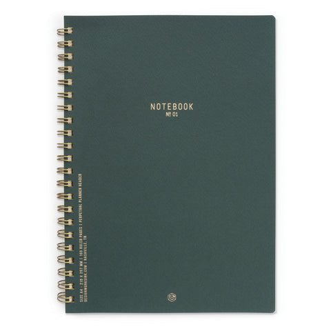 Twin Wire Notebook - Pacific Forest