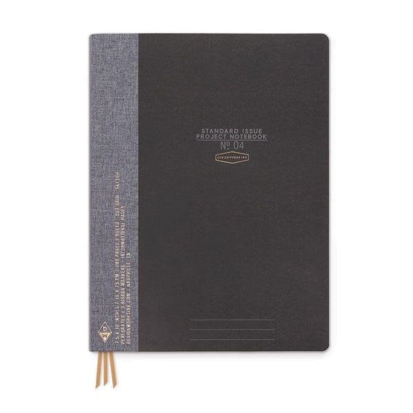 Book Cloth Project Notebook - Black