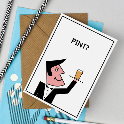 Waiter & Pint Card