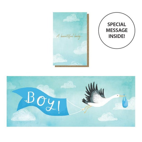 Expanding Baby Boy Card