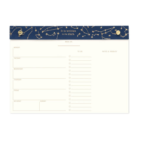 Weekly Desk Planner - Constellations
