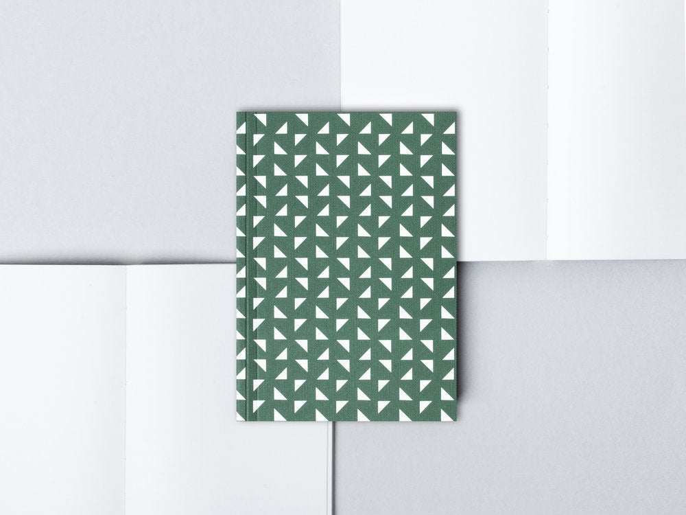 Forest Green Massi Print A6 Pocket Notebook