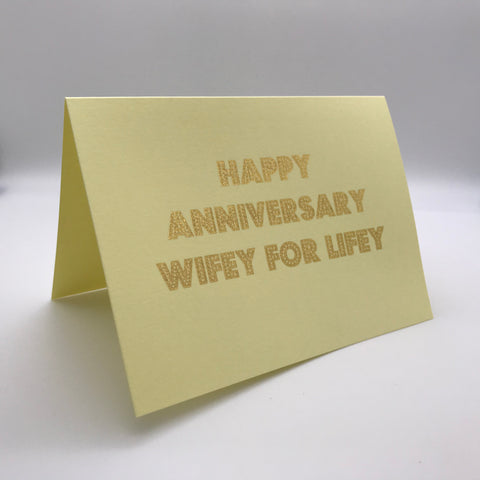 Happy Anniversary Wifey for Lifey Card