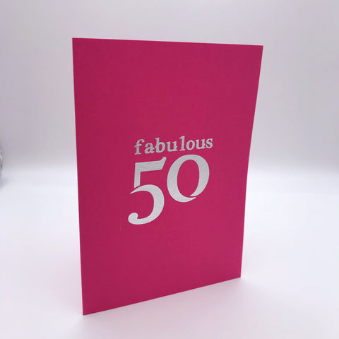 Fabulous 50 Card