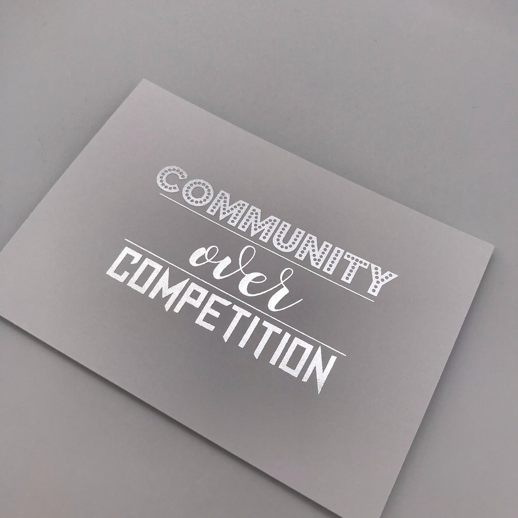 Community over Competition Postcard