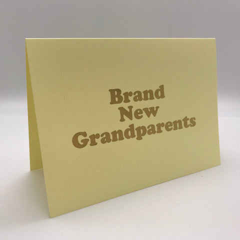 Brand New Grandparents Card