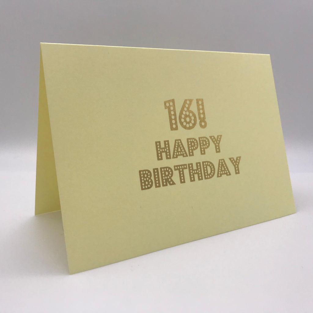 16! Happy Birthday Card