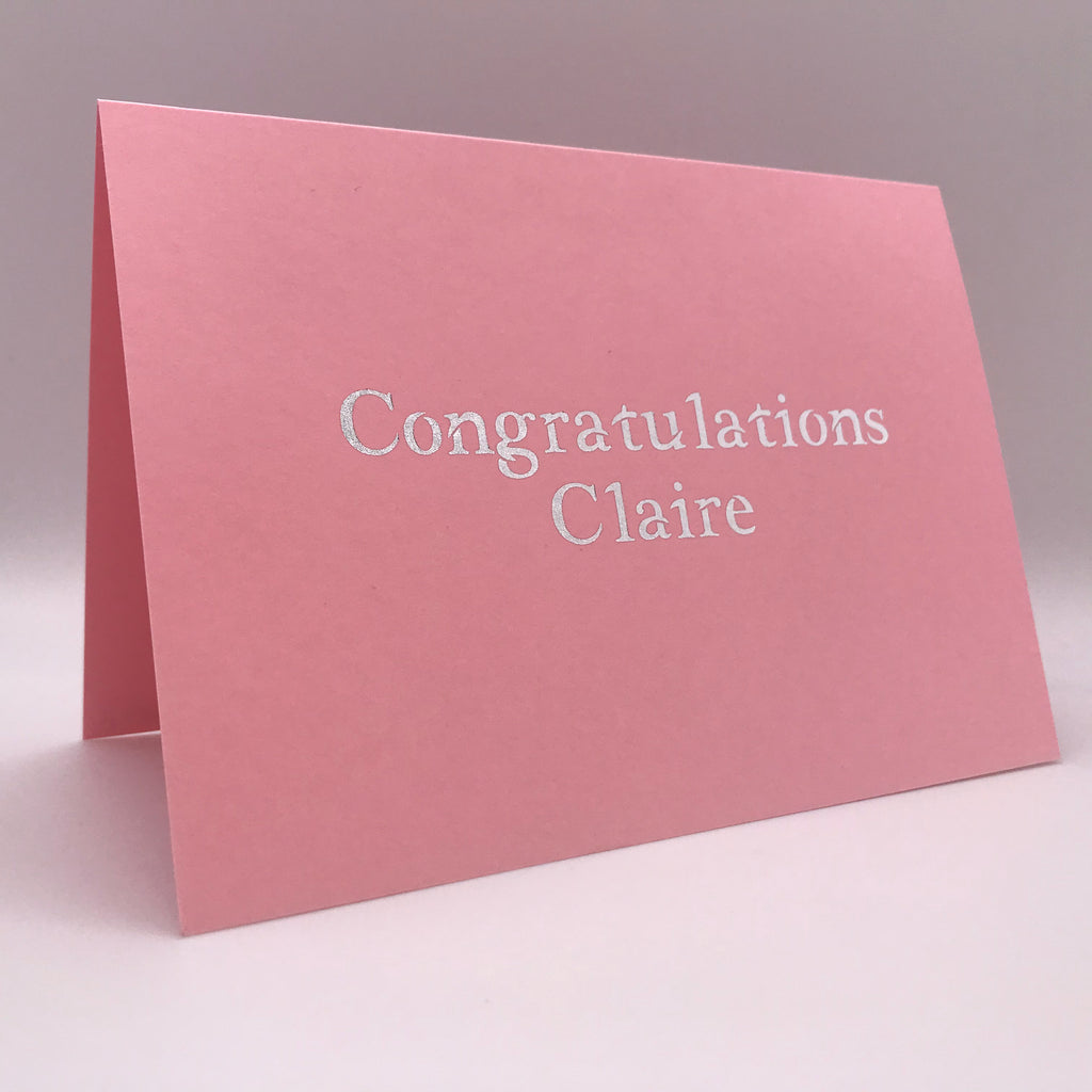 Personalised Card - Congratulations Card