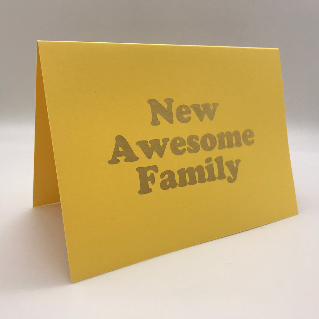 New Awesome Family Card