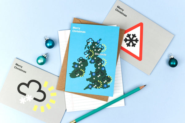 UK Weather Forecast Christmas Cards Box