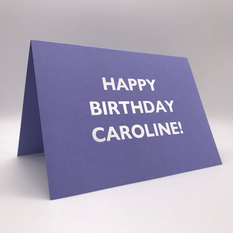 Personalised Card - Birthday