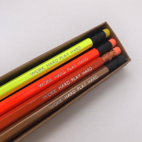 Work hard play hard Pencils