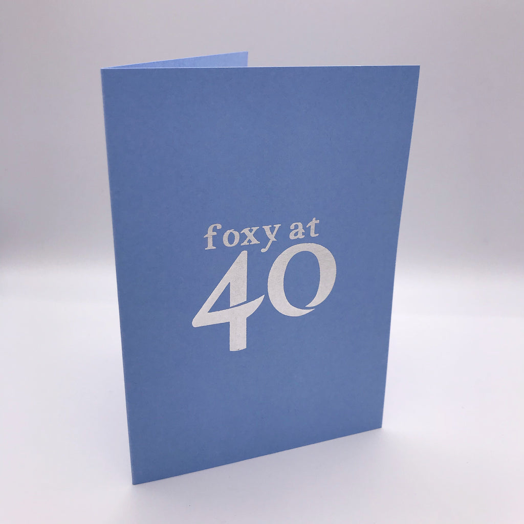 Foxy Forty Card