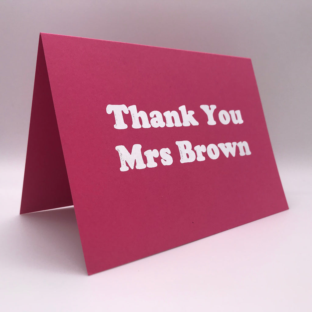 Personalised Card - Thank You Card