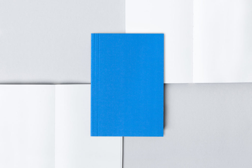 Blue Layflat A6 Pocket Notebook
