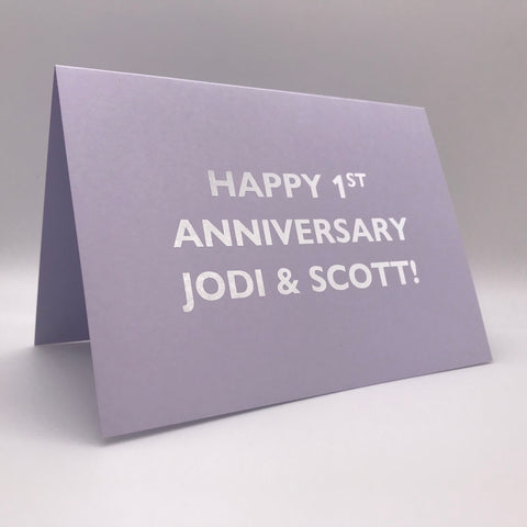 Personalised Card - Anniversary Card