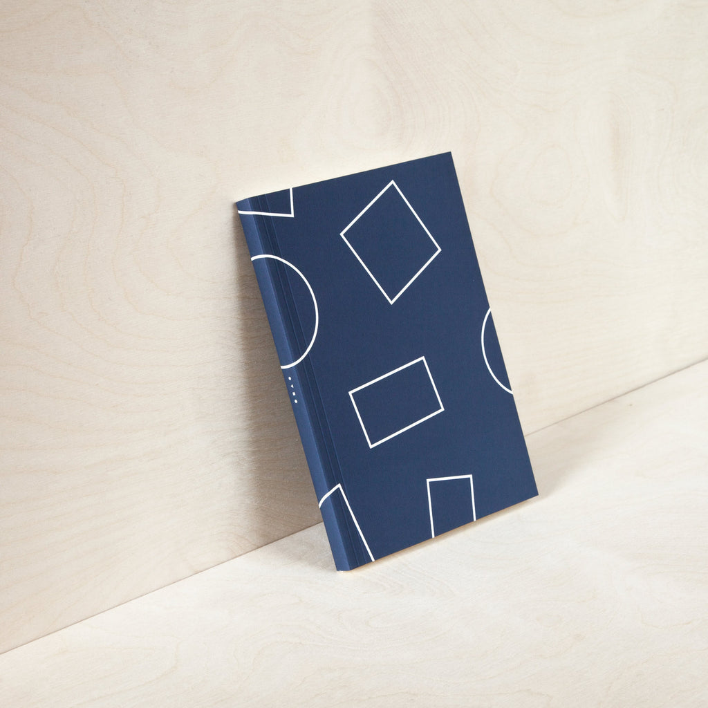 Shapes Navy Layflat Weekly Pocket Planner A6