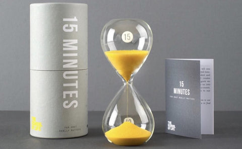 School of Life Sand timer - 15 Minutes