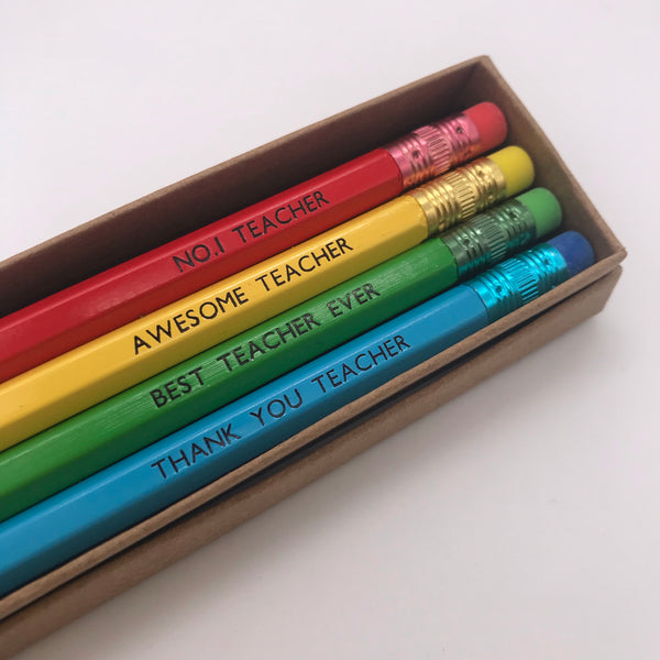 Teacher Pencil Gift Box Set