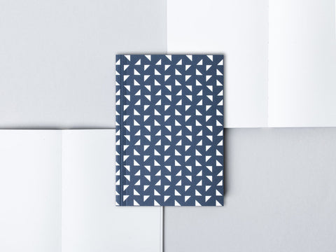 Navy Massi Print A6 Pocket Notebook