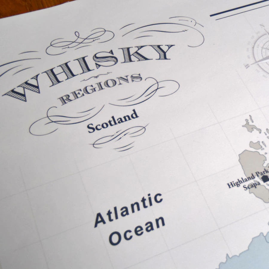 Whisky Map of Scotland