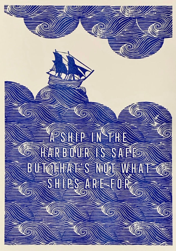 Ship in the Harbour Print