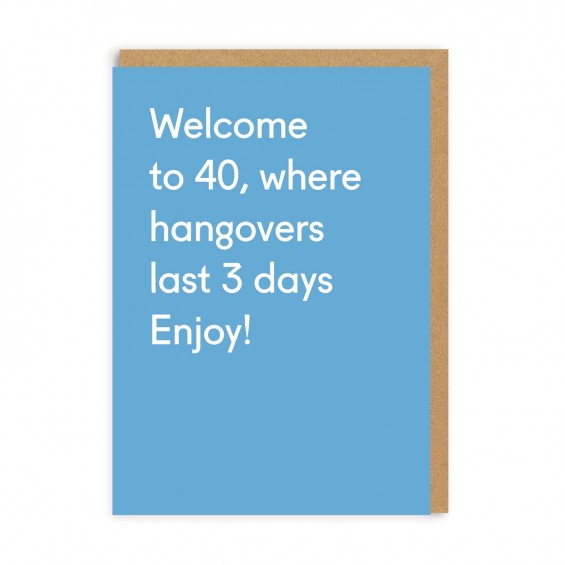 Welcome To 40 Card