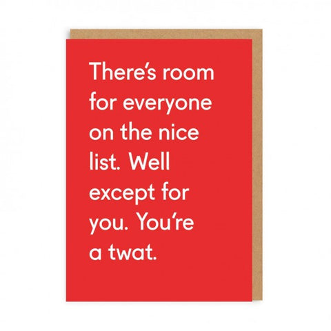 You're A Twat Card
