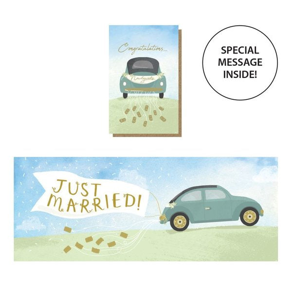 Expanding Just Married Card