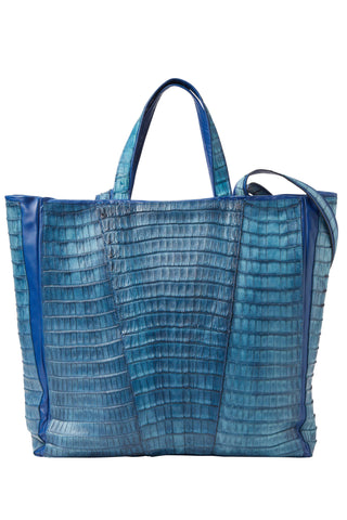 Crocodile Tote Blue