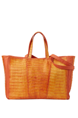 Crocodile Tote Orange