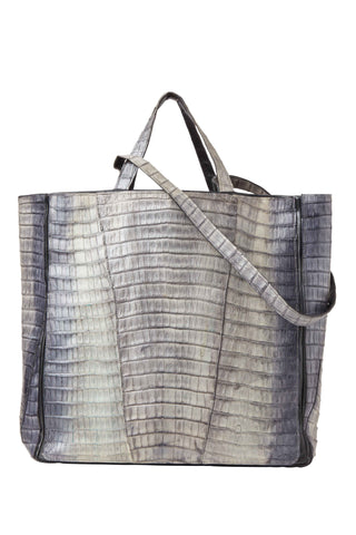 Crocodile Tote Grey Pearl