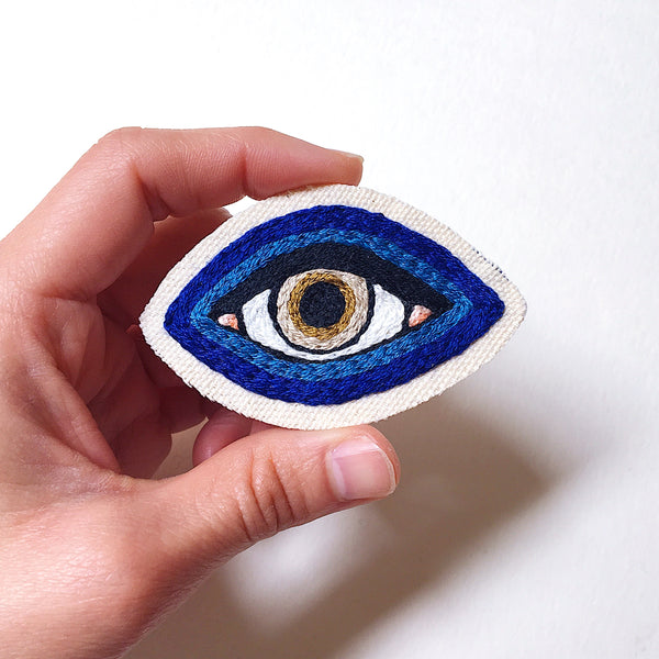Cobalt Eye Canvas Patch