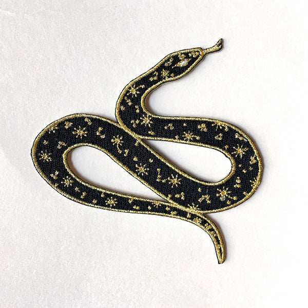 S E C O N D S ~ Cosmic Snake Iron-On Patch