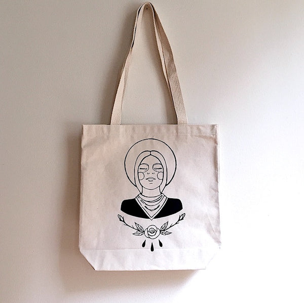 Cowgirl Canvas Tote Bag