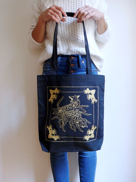 S E C O N D S ~ Dog Pack Canvas Tote Bag