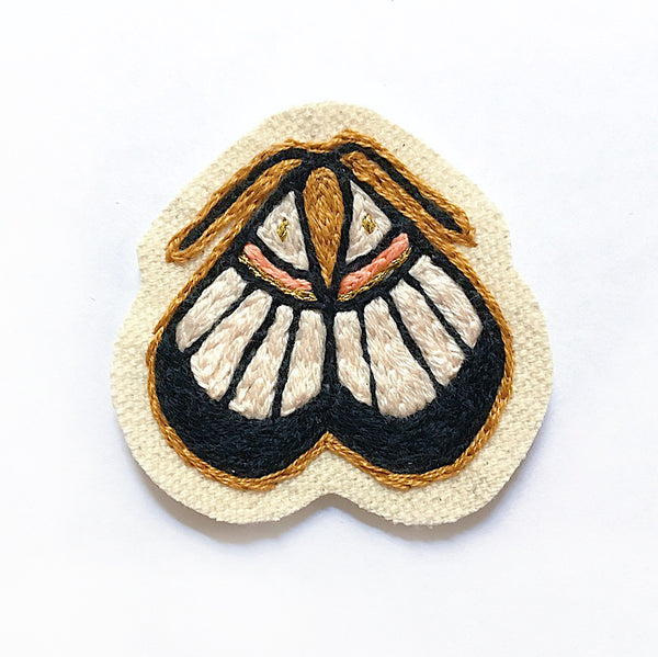 Moth Embroidered Patch