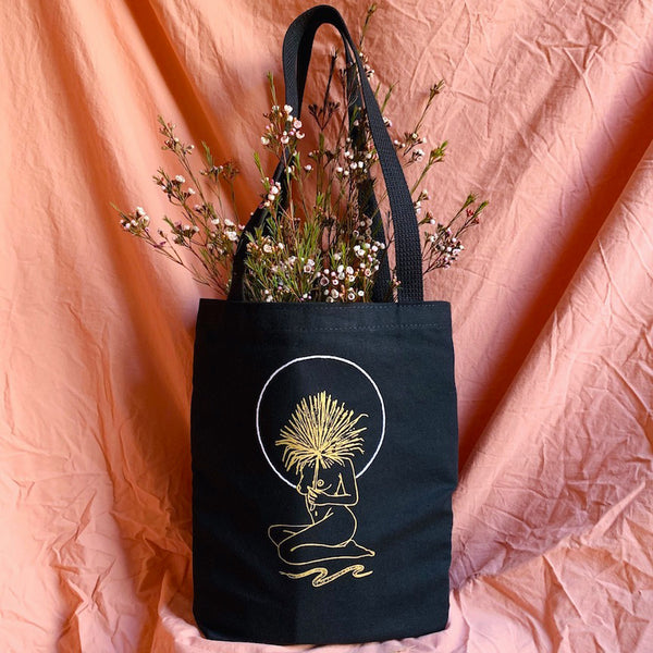 Serpentine Canvas Tote Bag