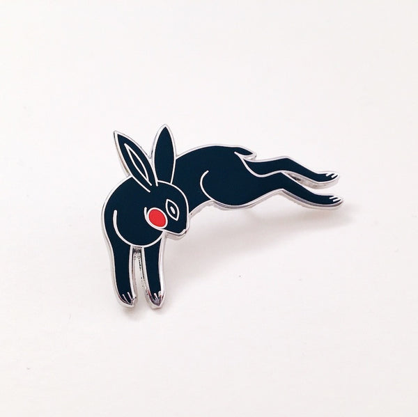 Black Rabbit Enamel Pin
