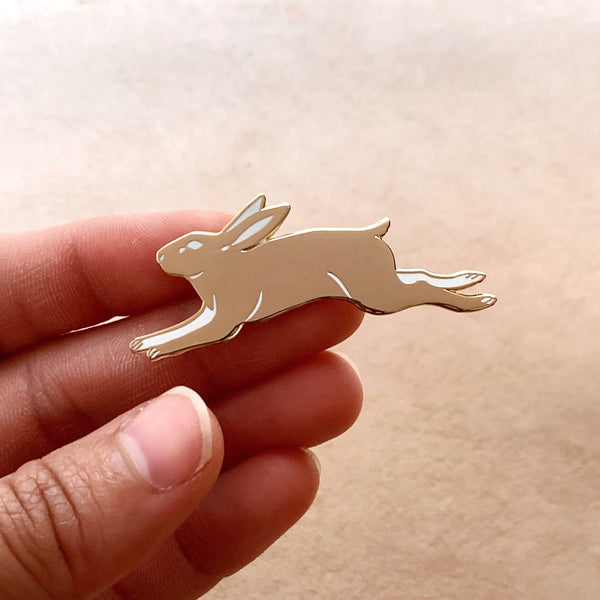 Golden Rabbit Enamel Pin