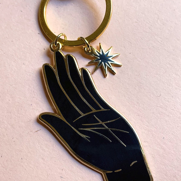 S E C O N D S ~ Fated Hand Enamel Keychain