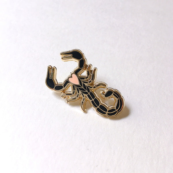 Black Scorpion Enamel Pin