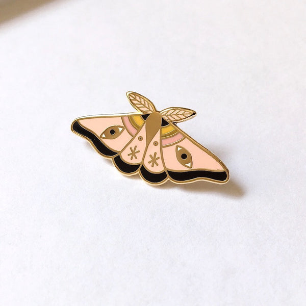 Dusty Moth Enamel Pin