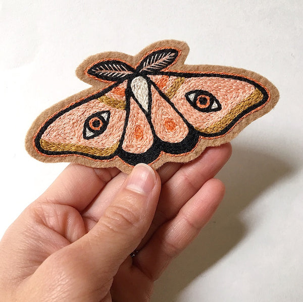 Moth No. 1 Embroidered Patch