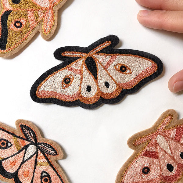 Moth No. 4 Embroidered Patch